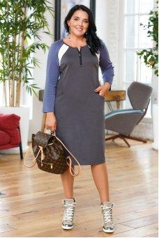 Платье Молли (серый)