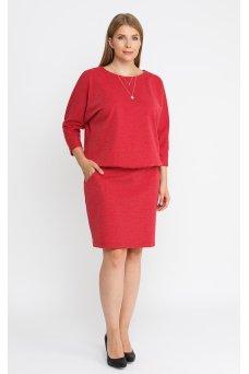 Платье 52110 (красный/меланж)
