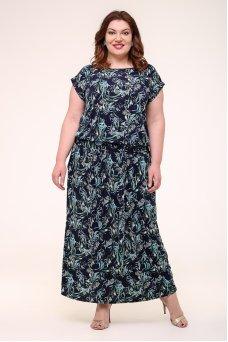 Платье Тиффани 2 (синий/бирюза)