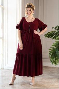 Платье Лилия (бордо)