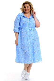 Платье Мальдивы (голубой/перья)