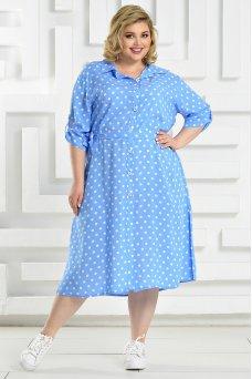 Платье Мальдивы (голубой/горох)