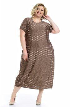 Платье Париж (капучино/горох)
