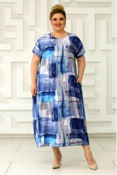 Платье Париж (голубой/серо-голубой)