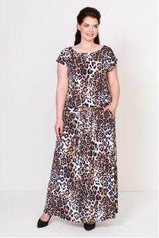 Платье Тиффани (леопард коричневый)