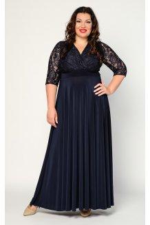 Платье Вернисаж (синий темный)