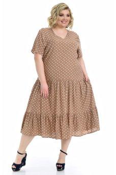 Платье Виктория (горох/коричневый)