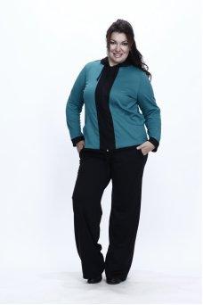 Спортивный костюм Весна (бирюза/черный)