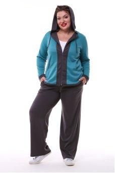 Спортивный костюм Весна (бирюза/серый)