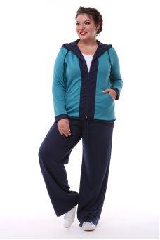 Спортивный костюм Весна (бирюза/синий темный)