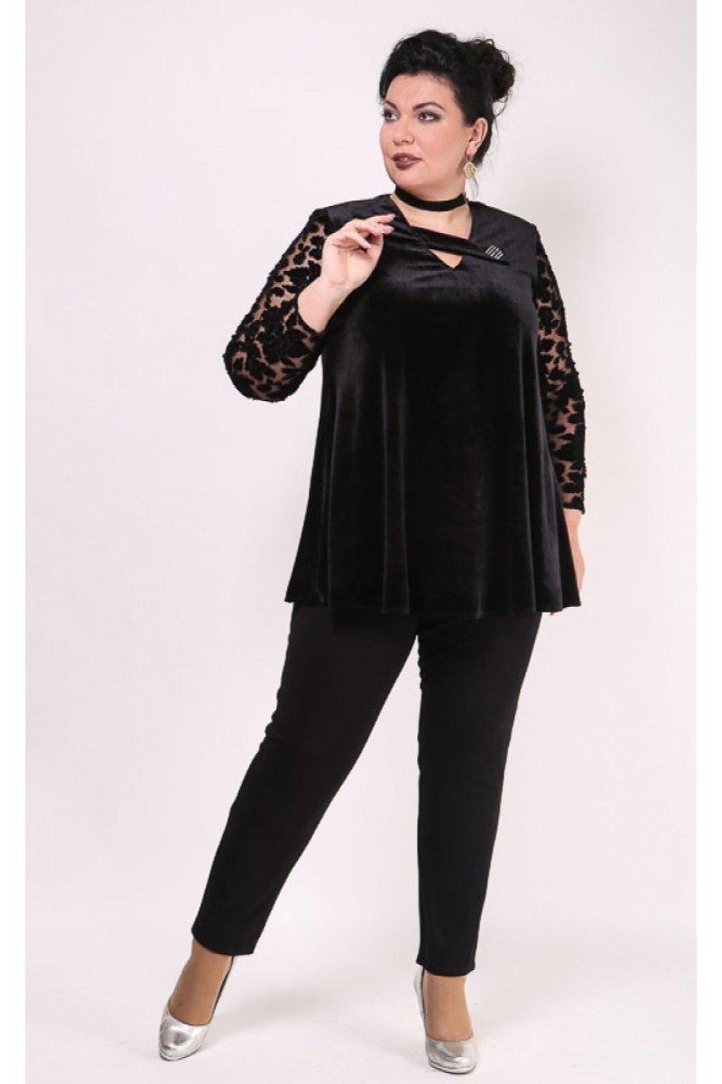 Блузка Камелия (черный)