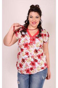 Блузка Лаванда (красный)