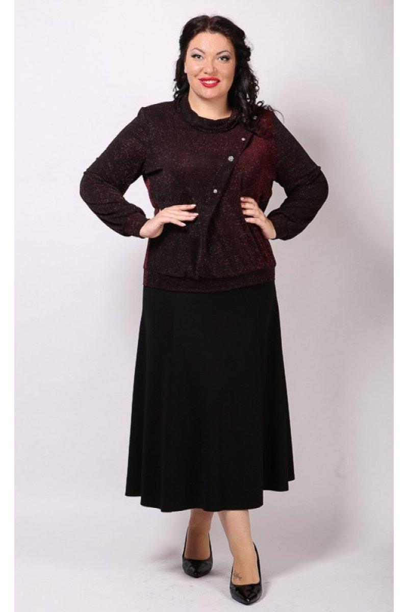 Блузка Сияние (бордо)
