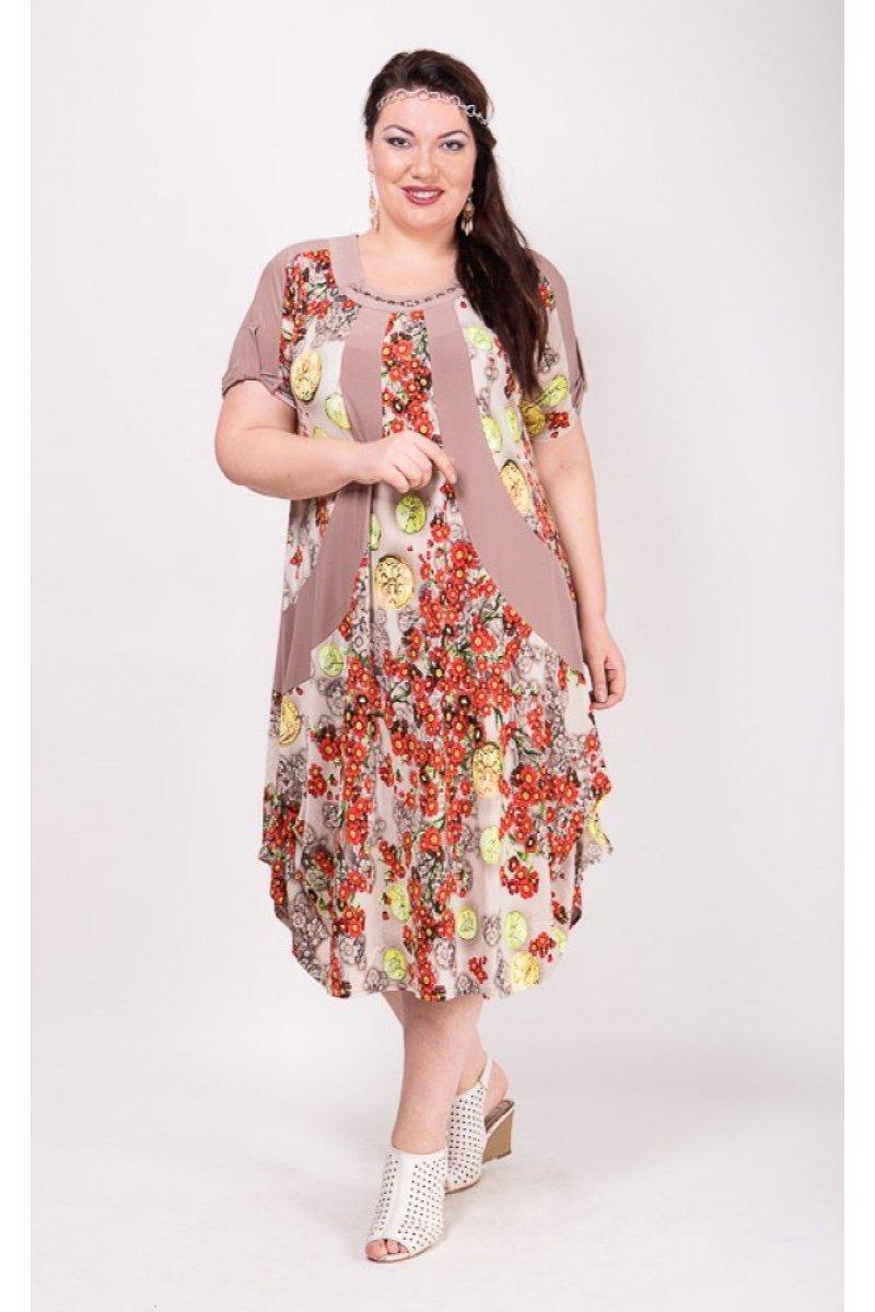 Платье Алевтина (бежевый)