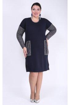 Платье Авангард (синий)