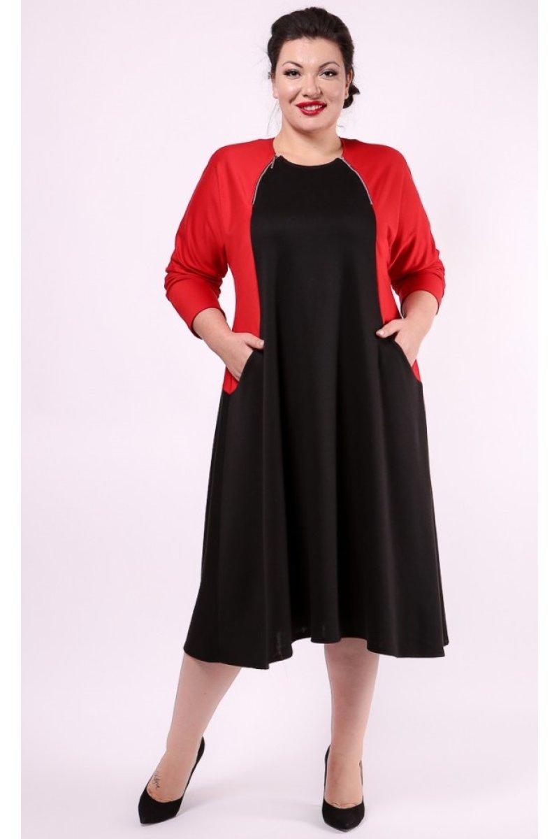 Платье Эльба (красный)