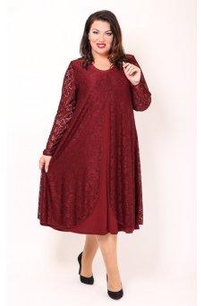 Платье Гармония (бордо)