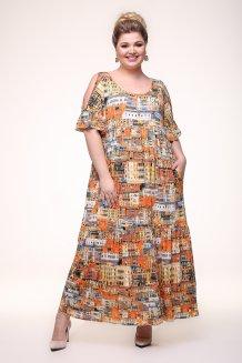 Платье Лилия (оранжевый)
