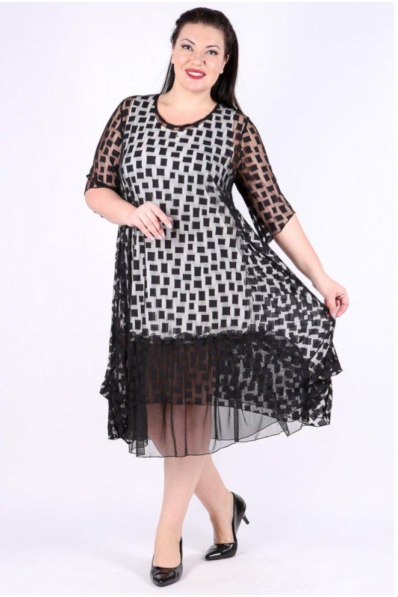 Платье Олимпия (черный кубик)