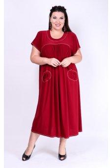 Платье Сицилия (бордо)