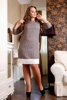 Платье Сидней А2 (клетка серый)