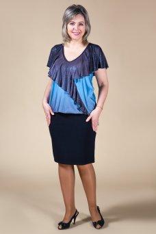 Блузка Веста (голубой)