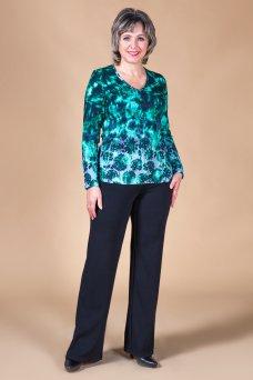Блузка Инга (зеленые цветы)