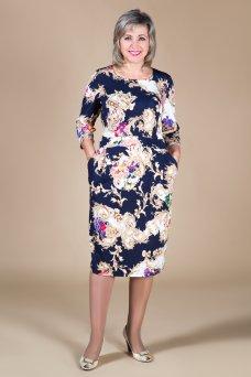 Платье Бажена (узор бежевый)