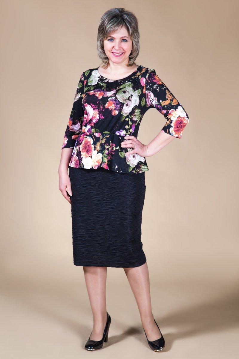 Платье Флора (цветы/зеленый)