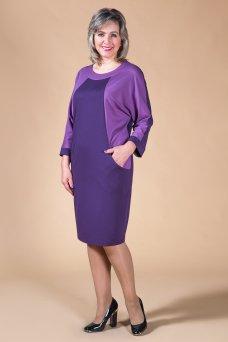 Платье Камелия (баклажан-брусника)