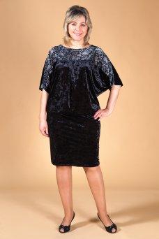 Платье Ночь (черно-серый)
