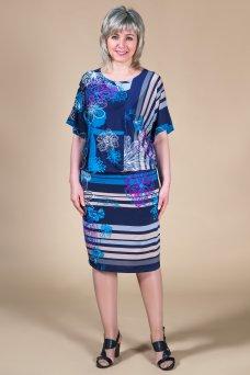 Платье Шарли (синий/голубой)