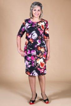 Платье Верди (цветы фуксия)
