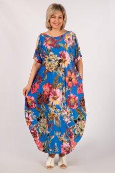 Платье Алиса (василек/цветы)