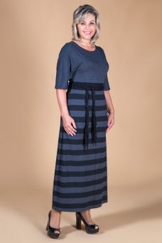 Платье София (серый)