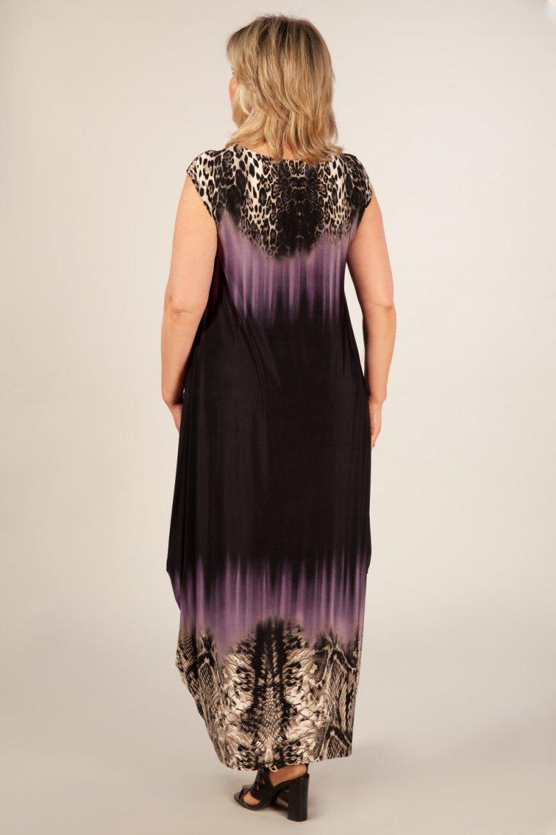 Платье Стефани (черный/сирень)