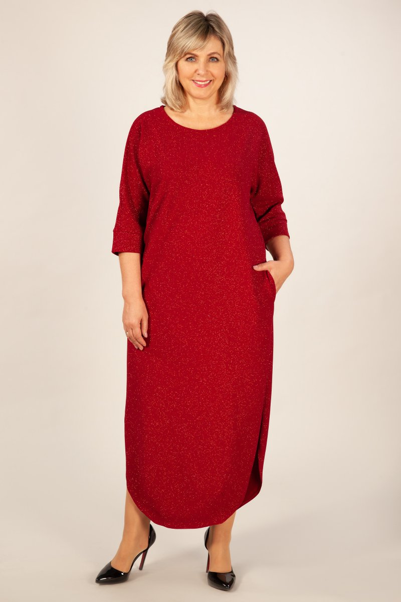 Платье Стелла (бордо)
