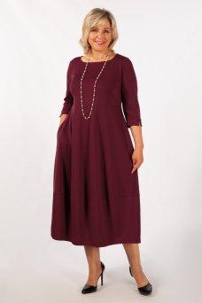 Платье Трейси (бордовый)