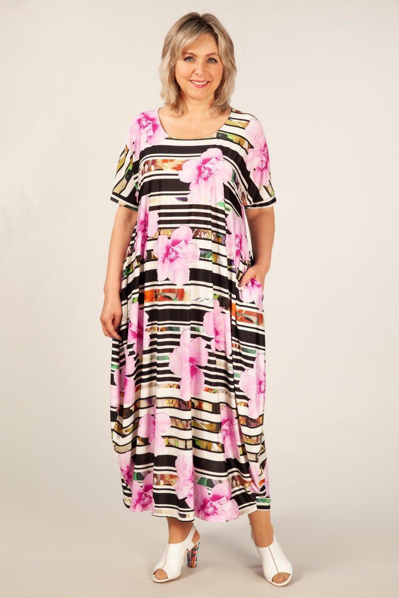 Платье Вероника (цветы/розовые)