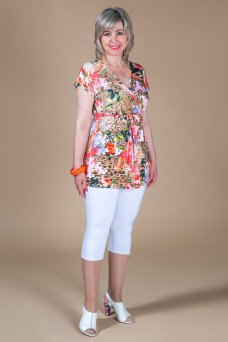 Туника Бали (цветы-коралл)