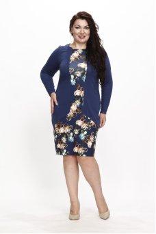 Платье Карелия (индиго)