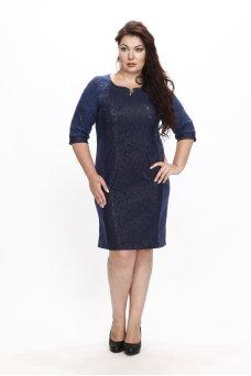 Платье Марилена (чернильный принт с люрексом)