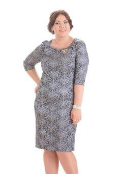 Платье Марилена (лиловый с золотом)
