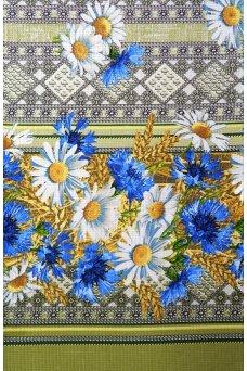 """Полотенце кухонное вафельное """"Цветы синий"""""""
